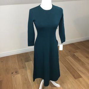 Eliza J Fit and Flare Green Sweater Dress Sz S